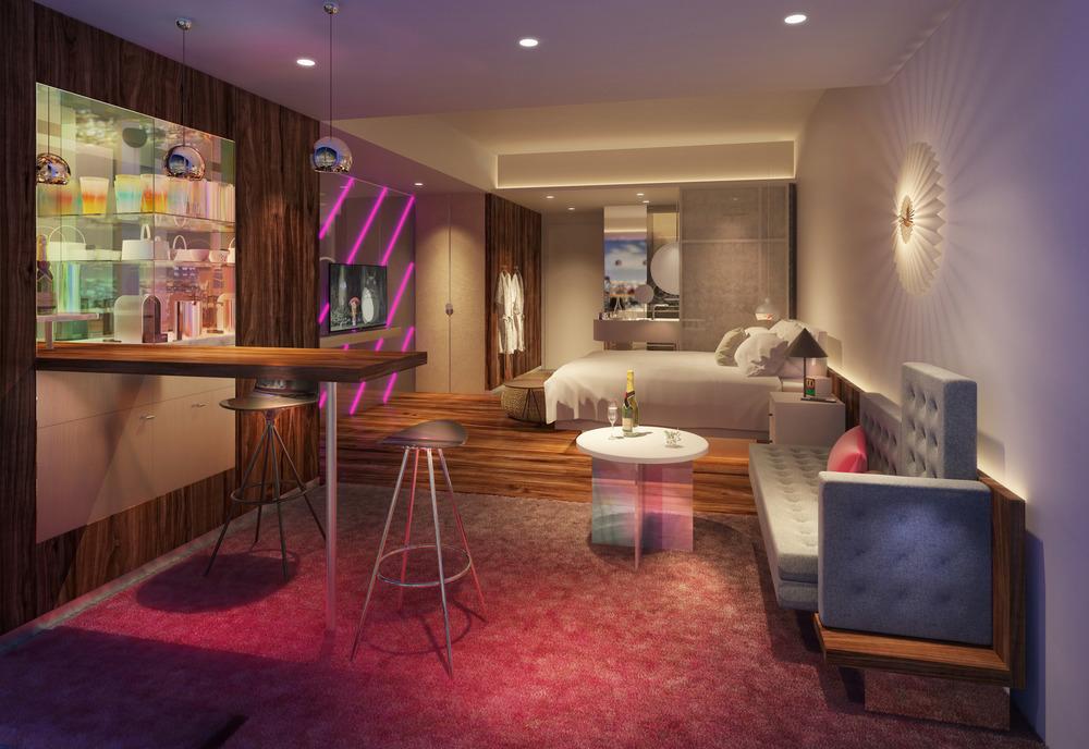W Osaka, Concrete (Chambres d'hôtel).