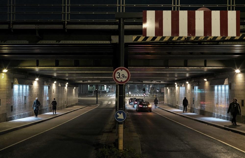 Oeuvre lumineuse par Matthias Oostrik, Amsterdam.